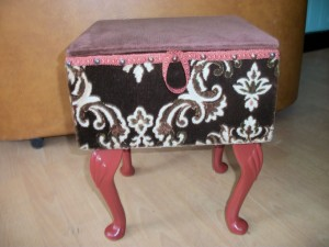Sewing Box 1950's Original Fabric SOLD
