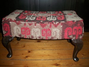 Reupholstered Foot Stool SOLD