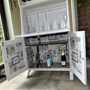Painted and decoupage drinks cabinet